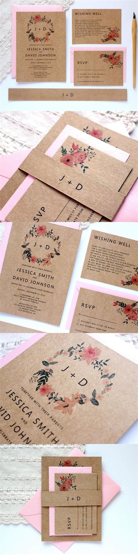 Rustic Wedding Invitation Templates 50 Best Templates