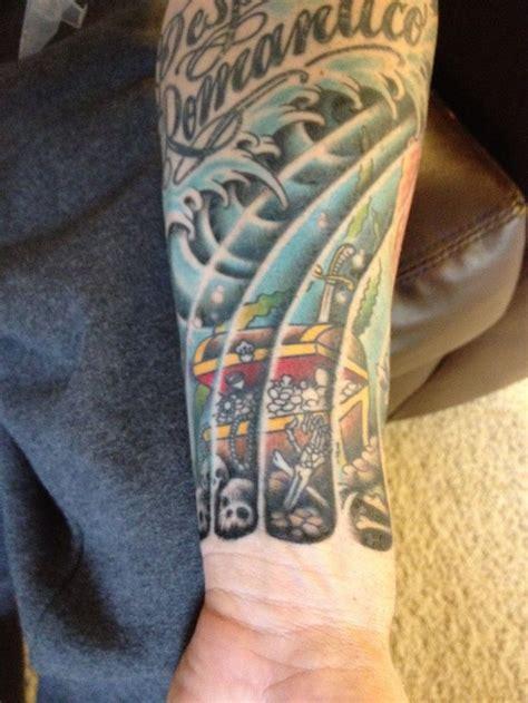 treasure chest tattoo nautical tattoos treasure chest water