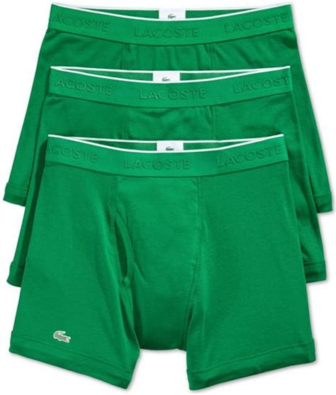 Lacoste Pouch By Miss Hollabag lacoste s boxer briefs 3 pack in green for
