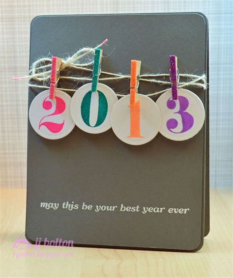New Year Handmade Cards Ideas - 25 unique new year card ideas on happy new