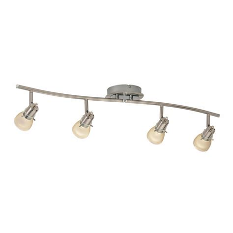 Lowes Lighting Fixtures Shop Portfolio 4 Light Brushed Nickel Traditional Track Lighting Fixture At Lowes