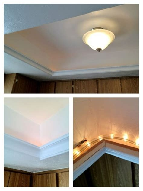 A Great Idea For Updating The Ugly Fluorescent Light Box Fluorescent Lights For Kitchens Ceilings