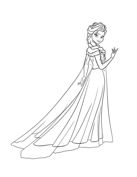 Princess Anna Beautiful Queen Elsa Coloring Pages Best Coloring Princess Frozen