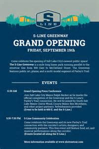 Grand Opening Letter Sle by Celebrate The S Line Greenway Grand Opening On Sept 19 Slcgreen