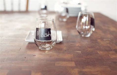 chalkboard paint ideas wine glasses just buy some inexpensive wine glasses put on some