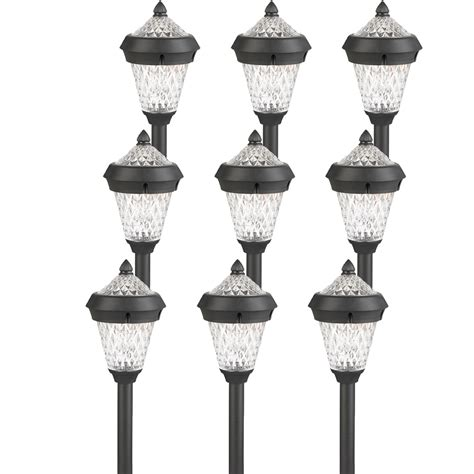 9 Pack Westinghouse Atlanta Black Solar Outdoor Garden Westinghouse Solar Garden Lights