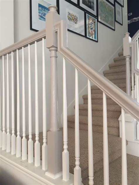 How To Paint A Stair Banister by The 25 Best Ideas About Painted Banister On