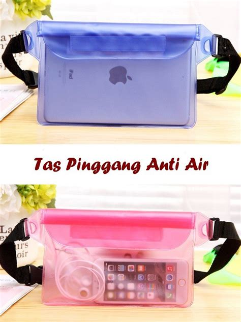 Tas Pinggang Anti Air Waterproof tas pinggang anti air 3 lapis seal anti air muat hp tablet dompet