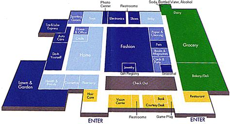 Floor Plan Of Shopping Mall by Coldwater Michigan Walmart Wal Mart Store Maps