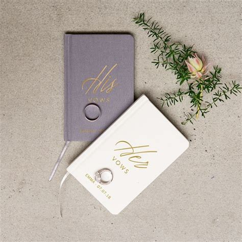 wedding ceremony journal personalized wedding vow journal