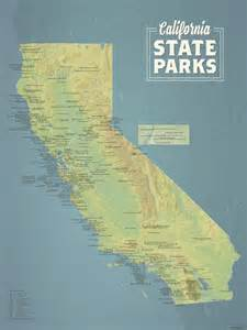 california state parks map 18x24 poster