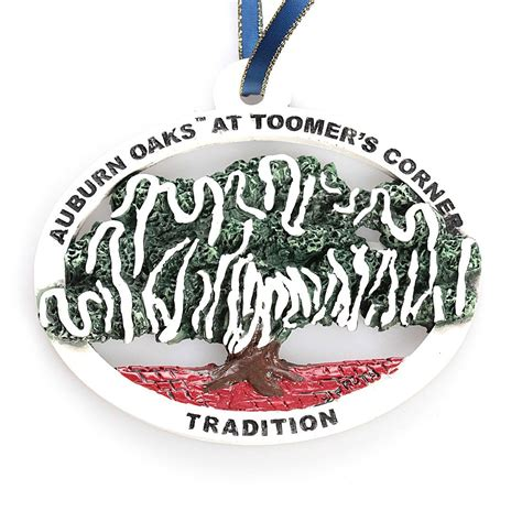 toomers corner christmas ornament remember traditions past with this auburn oaks at toomer s corner tradition ornament