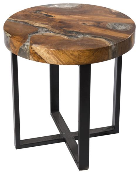 Resin Side Table by Cracked Resin Side Table Side Tables And End