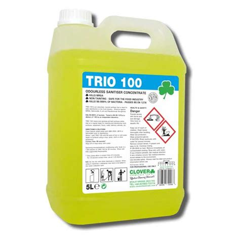 Clover Trio 100 Antibacterial Surface Cleaner 201 Top