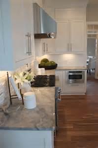 White Brick Backsplash   Transitional   kitchen   The Fat Hydrangea