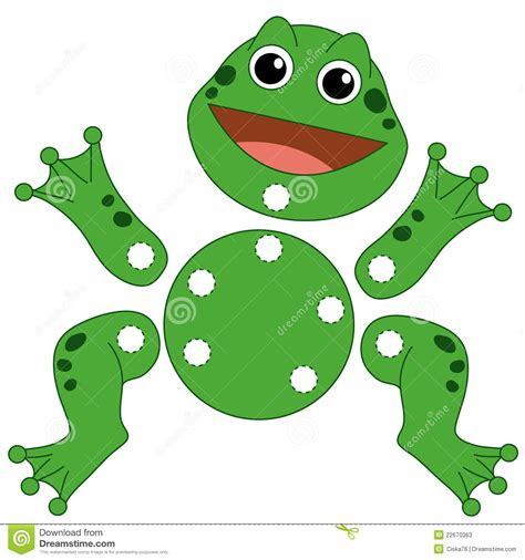 3d Puzzle Frog By Bimbozone 135 the frog to be cut out stock photos image