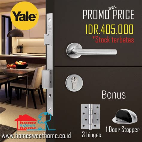 Kunci Pintu Handle Door Lock 1 Set Tanggung Empoli Stirling Cp yale door lock