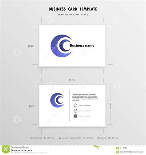 Name Card Design Template by Abstract Creative Business Cards Design Template Name