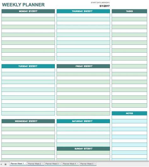 daily planner template google docs free google calendar templates smartsheet