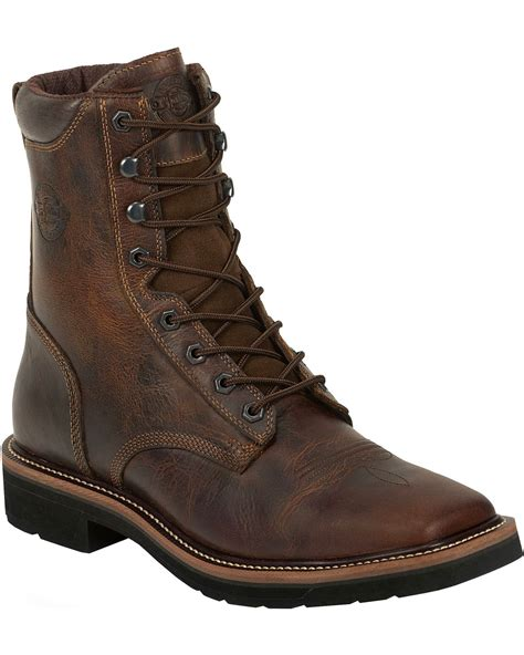 cinch mens boots justin s stede 8 quot lace up stede work boots