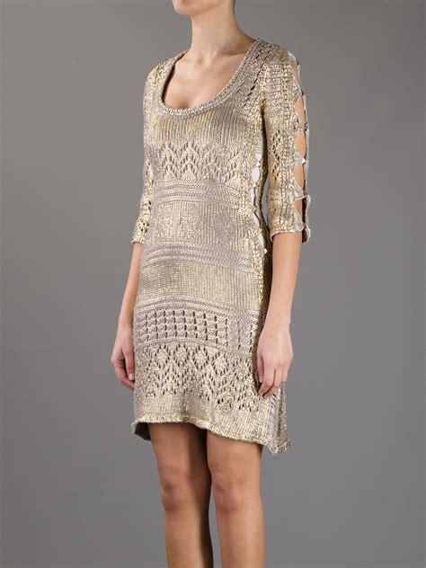 metallic knit dress philipp plein s metallic knit dress dawoob