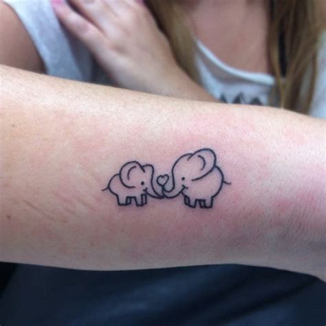 50 small elephant tattoos