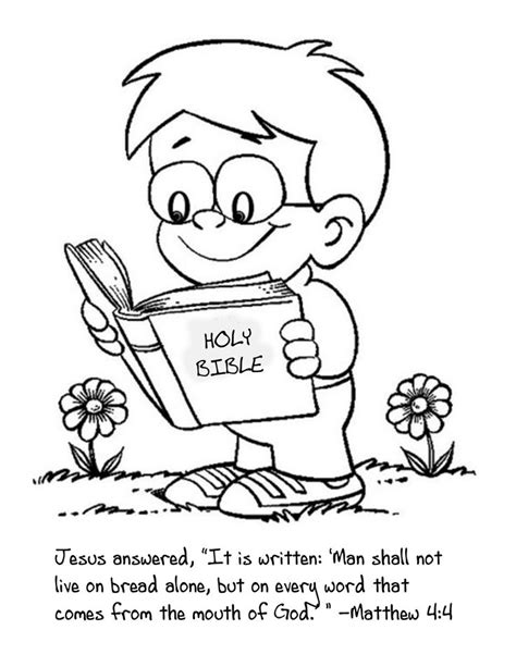 Coloring Pages Reading The Bible | cute coloring page for the kids to color as we talk about
