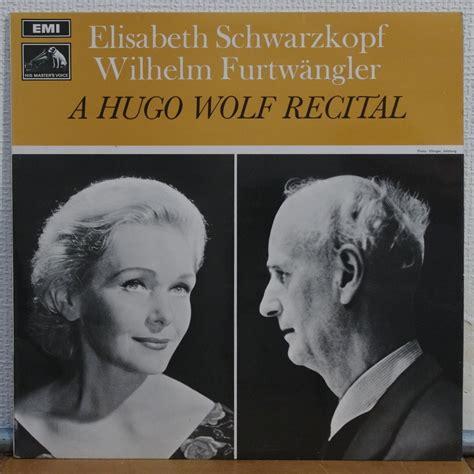 Sweater Hugo Lp a hugo wolf recital by wilhelm furtwangler lp with elyseeclassic ref 115553485