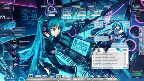 facebook themes skin anime rainmeter by overmind23 on deviantart