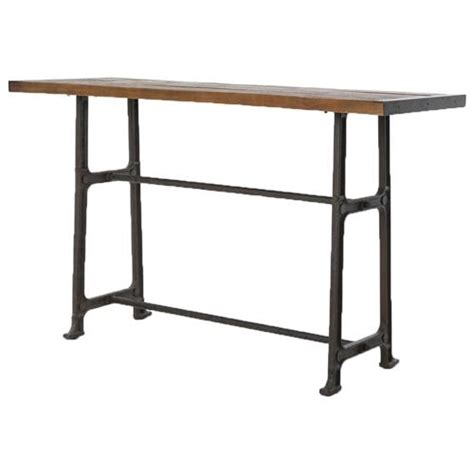 Oak Breakfast Bar Table Wolcott Industrial Loft Iron Bleached Oak Dining Bar Table Kathy Kuo Home