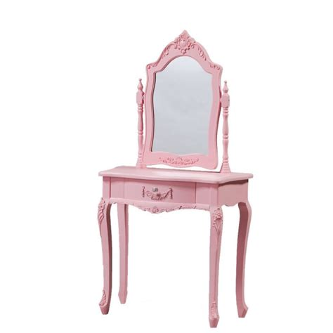 pink antique french style dressing table