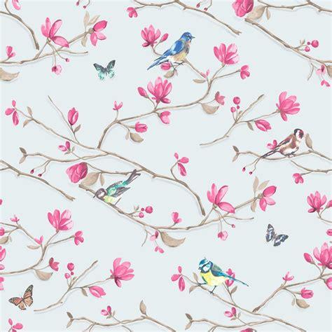 wallpaper flower motif new holden d 201 cor kira bird butterfly pattern floral flower