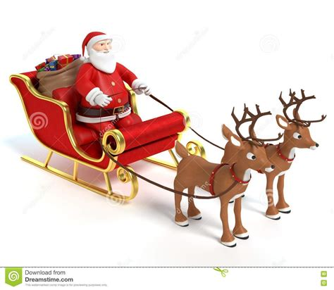 animated photos of christmas santa claus with reindeer santa sleigh and reindeer stock illustration illustration of snow 81330463