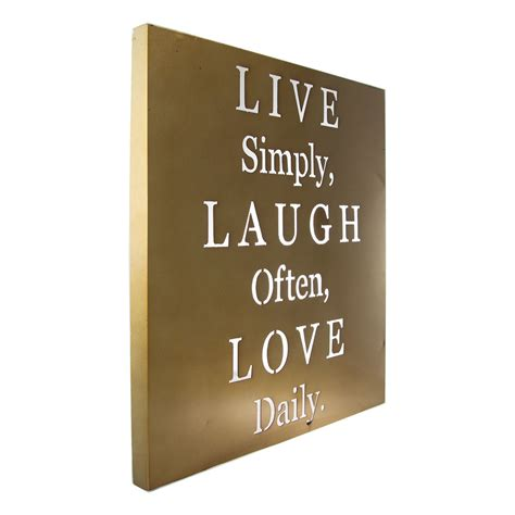 Live Laugh Plaques Decor by Live Laugh Metal Wall Inspirational Words Home