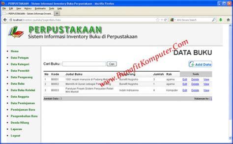 membuat sistem informasi perpustakaan berbasis web dengan php mysql source code sistem inventory buku perpustakaan berbasis