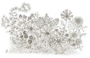Drawing Of Garden pencil drawing flower garden beautiful garden clipart