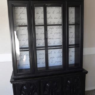 Black China Hutch Black Painted China Cabinet Painted Furniture