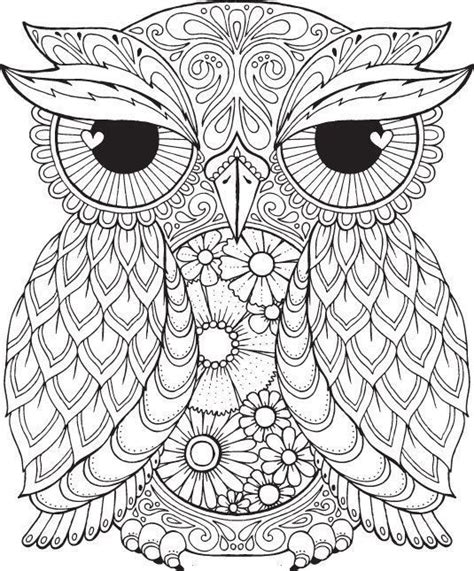 owl mandala coloring pages for adults 1293 best owls black white images on