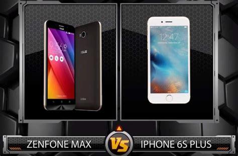 adu daya tahan baterai asus zenfone max vs iphone 6s plus pricebook