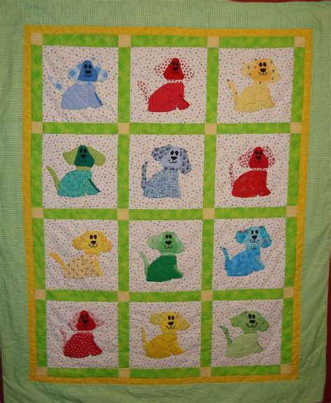 quot puppy quot baby quilt by jmann craftsy