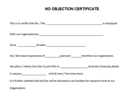 no objection letter no objection letter part 2 objection letter