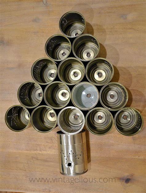 ideas de como hacer arbol navide241o con latas recicladas diy arbol de navidad con latas recicladas manualidades