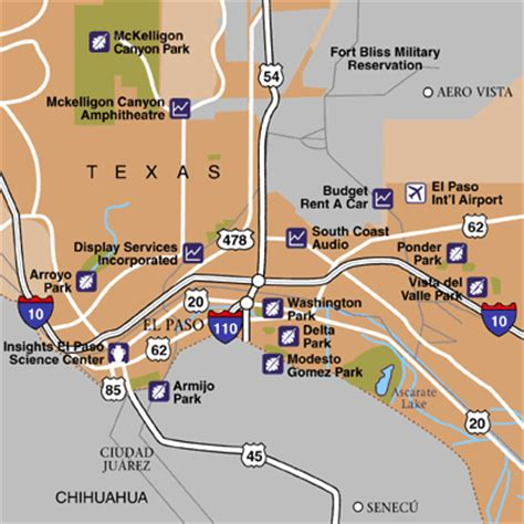 map of el paso and surrounding cities el paso map travel map vacations travelsfinders