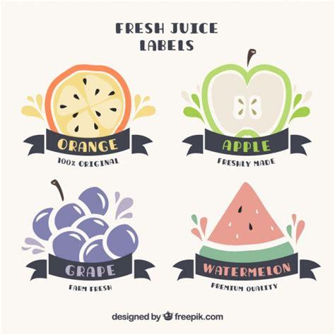 imagenes bonitas vectores bonitas pegatinas dibujadas a mano con frutas y cintas