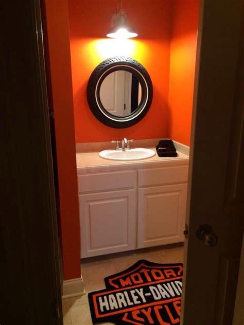 harley tire mirror harley davidson bedroom - Garage Badezimmerideen