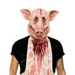 Bloody Halloween Costumes Masque Cochon Psychopathe Achat Vente Masque