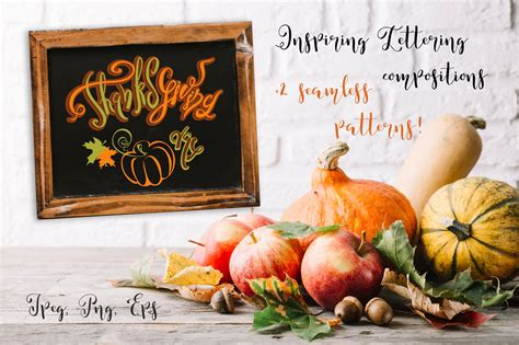 thanksgiving day thanksgiving day lettering compositions for