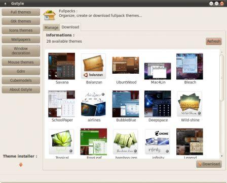 Gnome Themes Manager | manage ubuntu gnome themes with gstyle gui ubuntu sharing