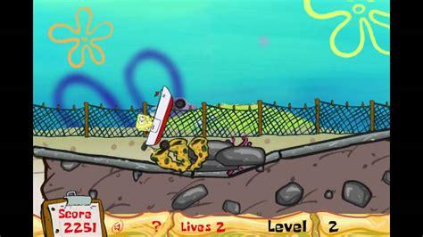 spongebob boat boat o cross spongebob game youtube