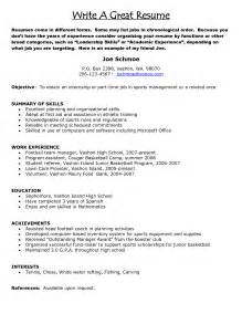 Great Exle Resumes by Exle Of A Great Resume Berathen